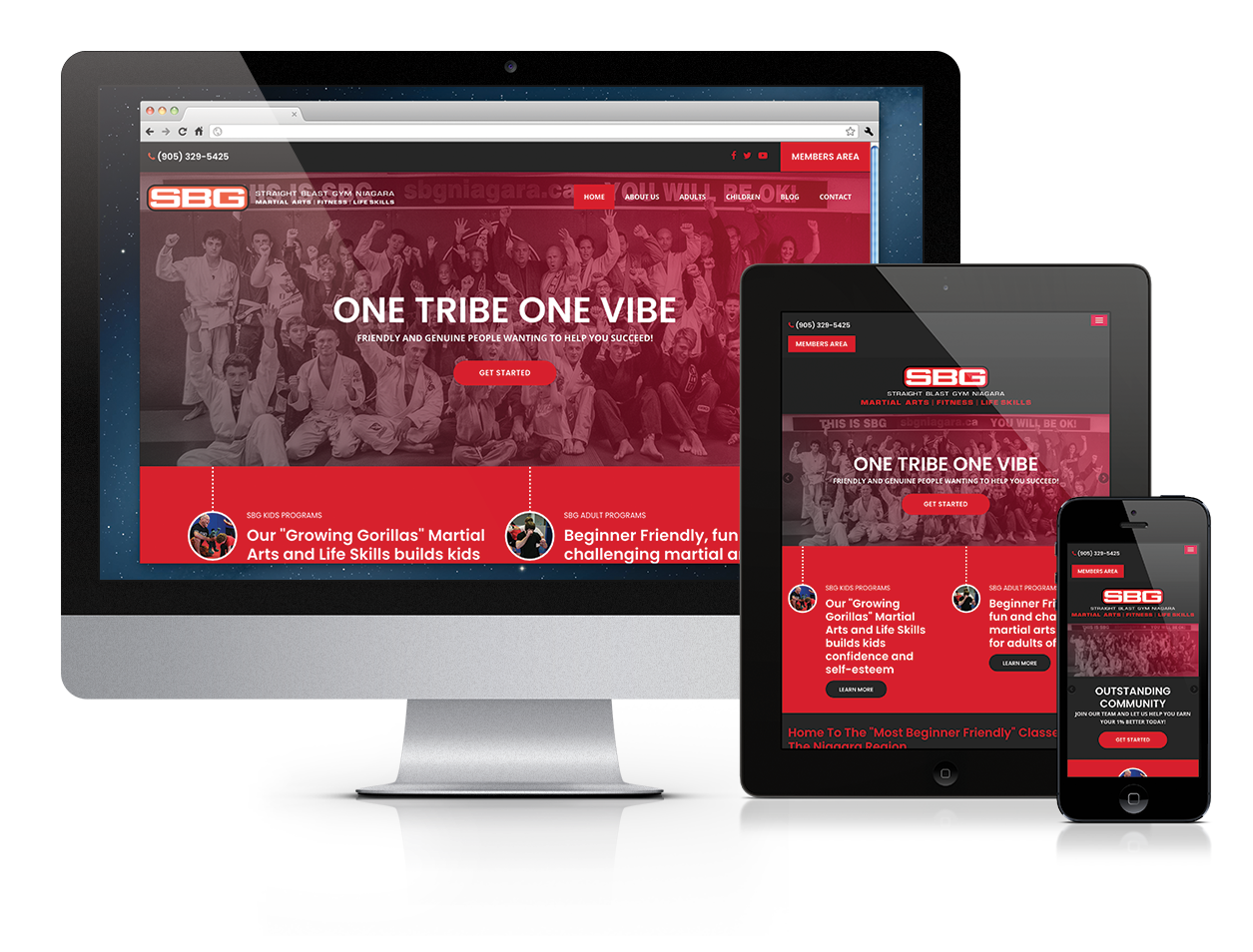 Straight Blast Gym, Website Design, Niagara
