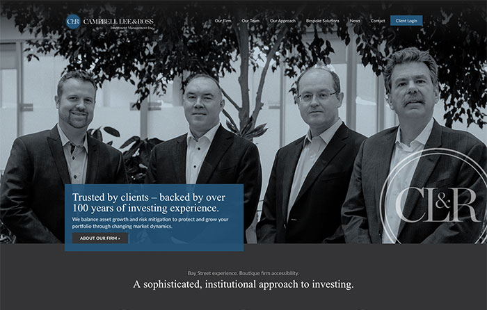 Campbell Lee & Ross Investment Management Website Design by CMSIntelligence