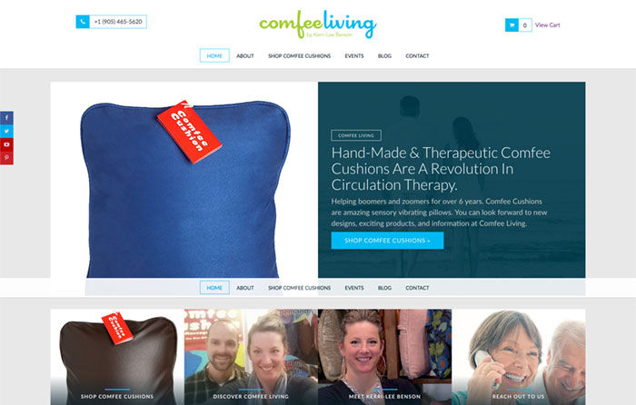 Comfee Living Website Design