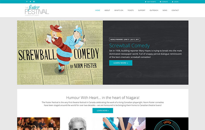 Foster Festival Website Design by CMSIntelligence