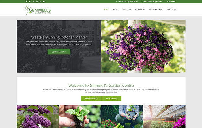 Gemmell's Garden Centre Website Design