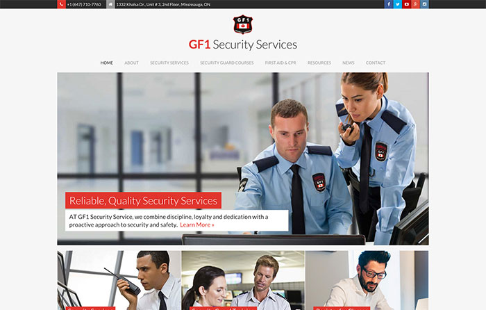 GF1 Security, Turn-Key Website Design, Niagara