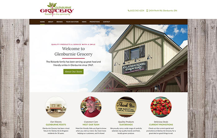 Glenburnie Grocery Turn-Key Website Design, CMSIntelligence inc.