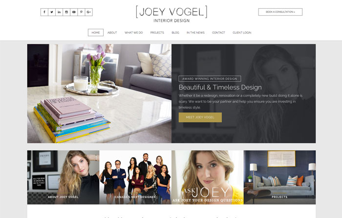 Joey Vogel Website Design