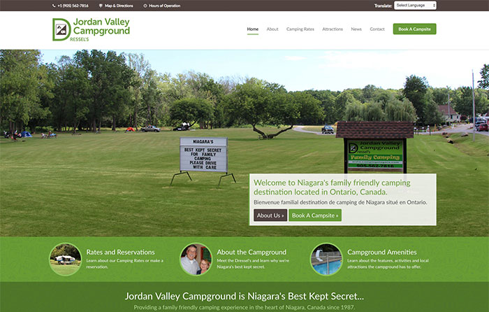 Dressel's Jordan Valley Campground, Turn-Key Website Design