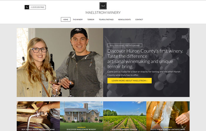 Maelstrom Winery Website