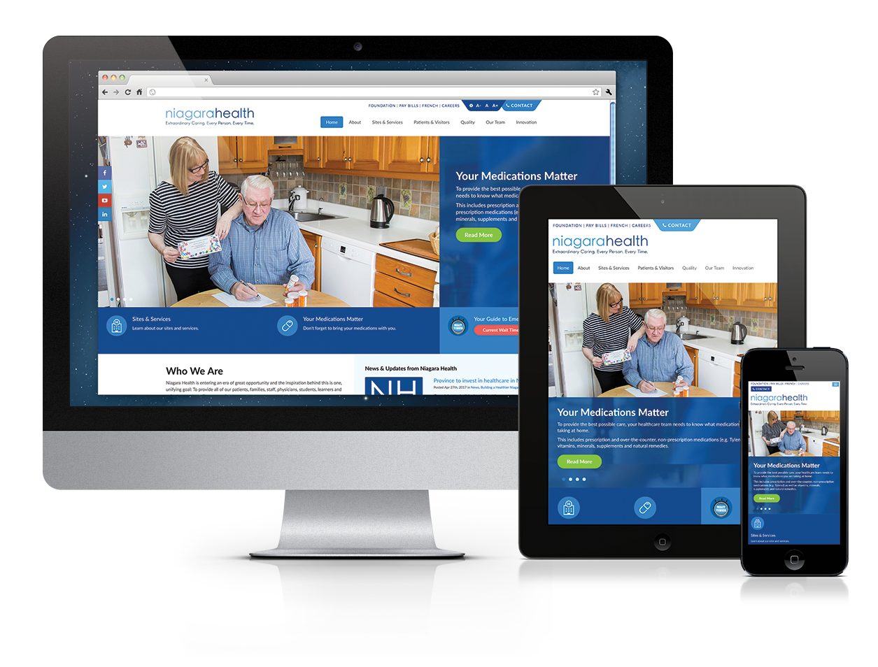 Niagara Health System, Website Design, Niagara