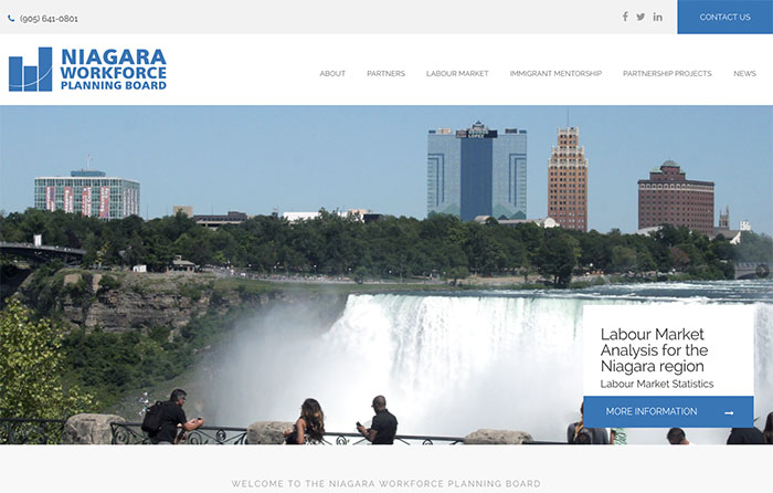 Niagara Workforce Planning Board Turn-Key Website Design, CMSIntelligence inc.