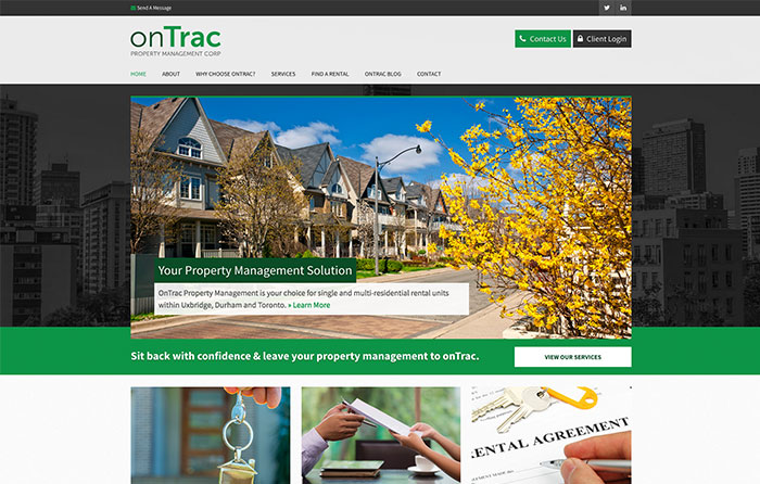 onTrac Property Management, Turn-Key Website Design