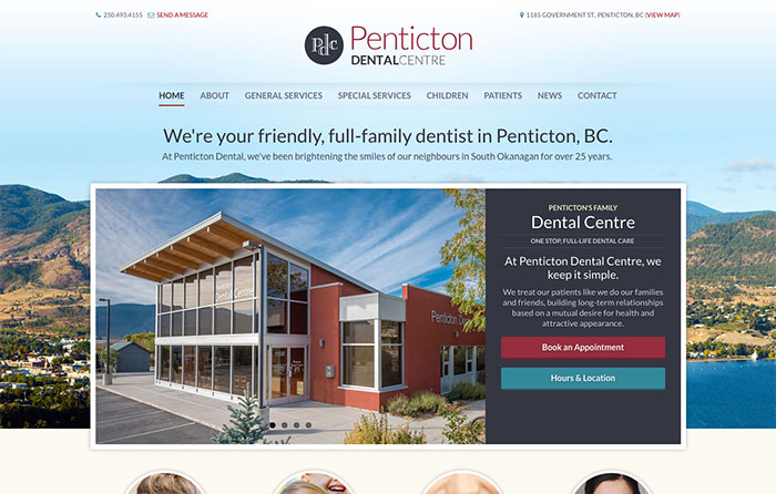 Penticton Dental Responsive Website, Niagara
