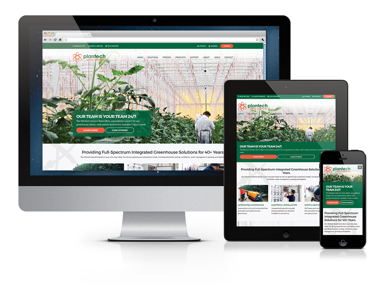 Plantech Control Systems Inc, Website Design, Niagara