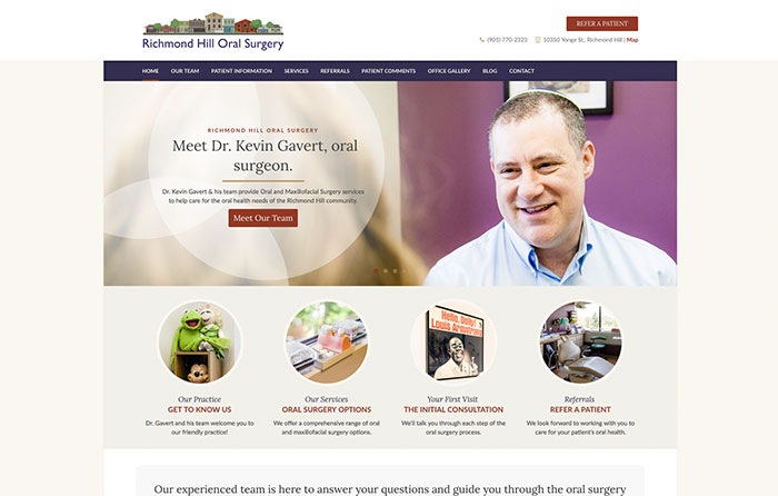 Richmond Hill Oral Surgery, Turn-Key Website Design