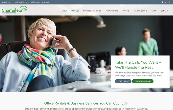 Chameleon Business Centres, Turn-Key Website Design, CMSIntelligence inc.