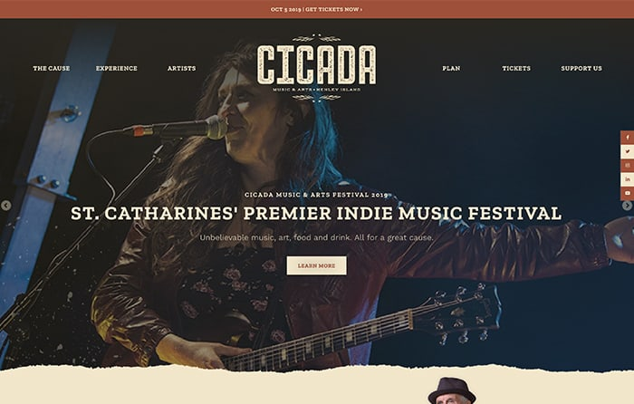 Cicada Music & Arts Festival | Smarter Website Design