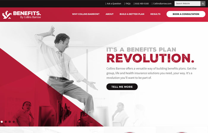 Benefits by Collins Barrow Website Design