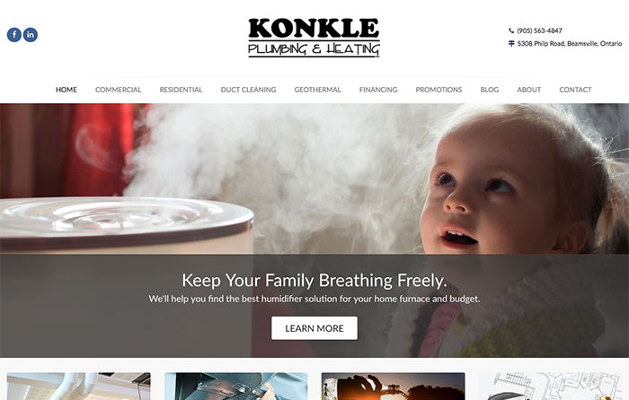 Konkle Plumbing & Heating Turn-Key Website Design, CMSIntelligence Inc.