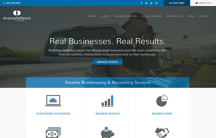 McEvoy Lelievre & Associates, Turn-Key Website Design, CMSIntelligence inc.