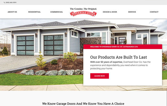 Overhead Door Co., Turn-Key Website Design, CMSIntelligence inc.