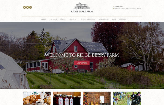 Ridge Berry Farm Turn-Key Website Design, CMSIntelligence Inc.