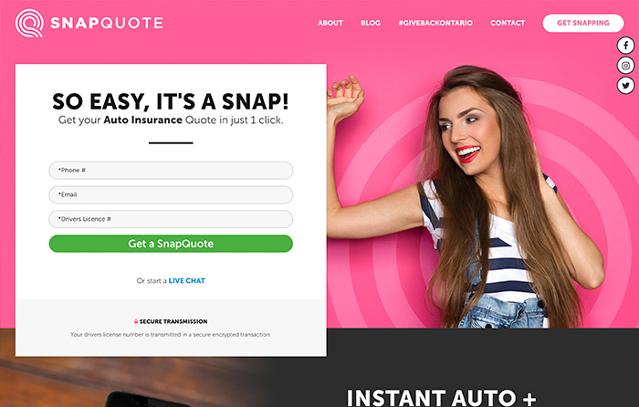SnapQuote Insurance | Smarter Website Design