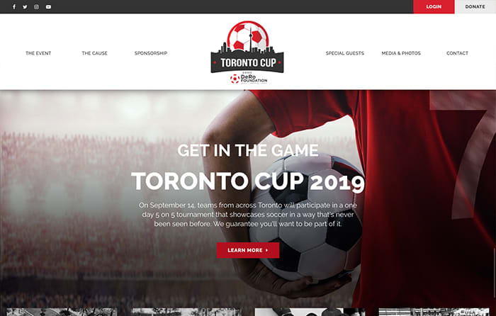 Toronto Cup 2019, Turn-Key Website Design, CMSIntelligence inc.