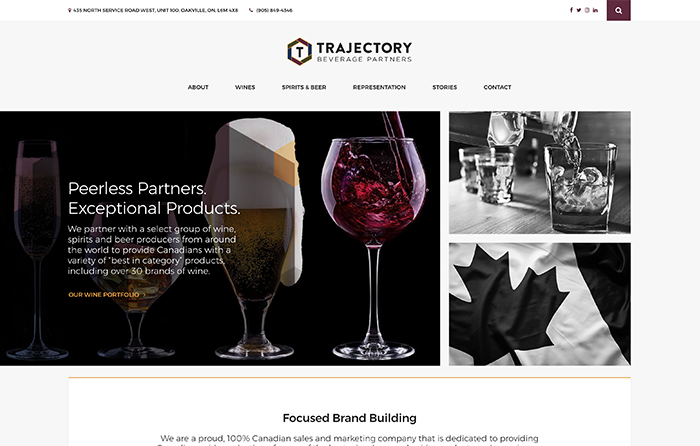 Trajectory Beverage Partners, Turn-Key Website Design, CMSIntelligence inc.