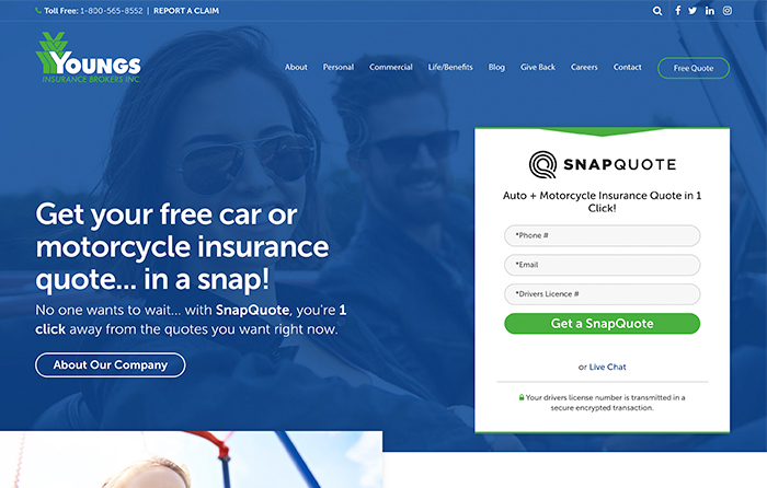 Youngs Insurance | Smarter Website Design