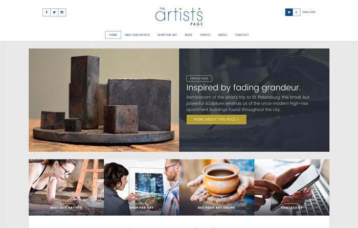 The Artist's Page, Turn-Key Website Design