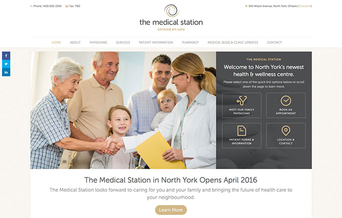 The Medical Station Responsive Website, Niagara