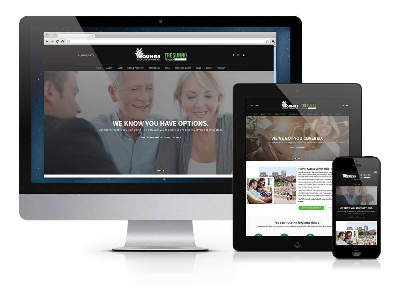 Tregunno Group, Website Design, Niagara