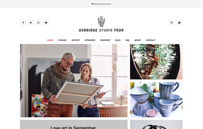 Uxbridge Studio Tour, Turn-Key Website Design, CMSIntelligence inc.
