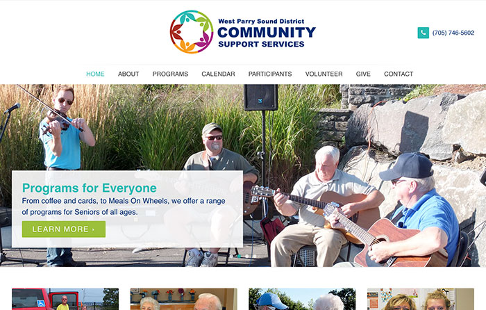 West Parry Sound District CSS Turn-Key Website Design, CMSIntelligence inc.