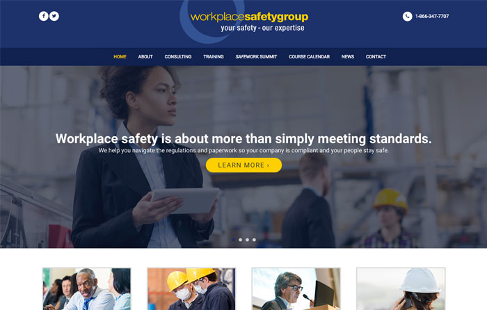 Workplace Safety Group Website Design