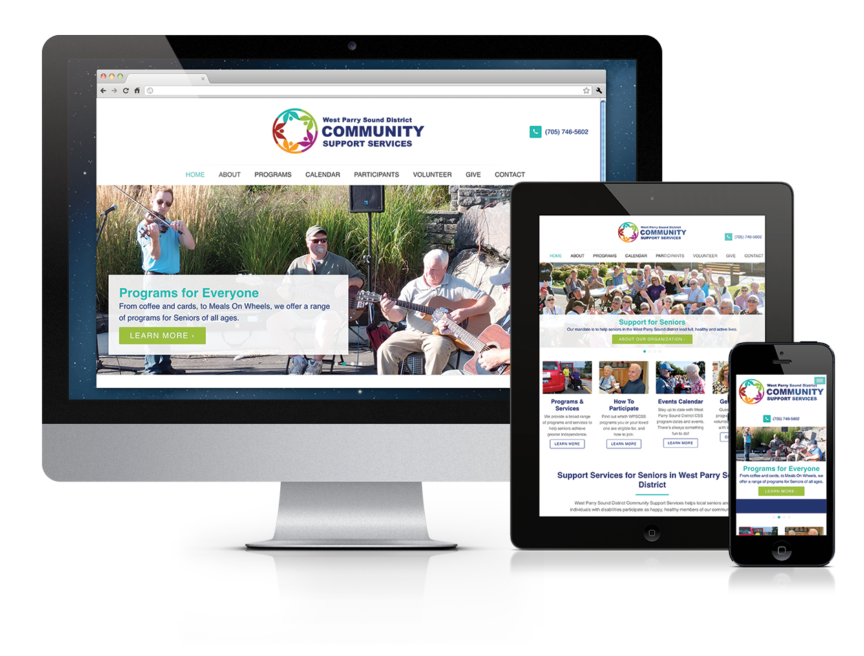 West Parry Sound District Community Support Services Website Design